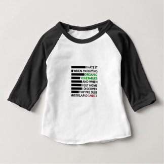 Camiseta Para Bebê Rosquinhas orgânicas do amor dos vegetais