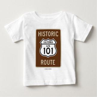 Camiseta Para Bebê Rota histórica E.U. 101 Califórnia (sinal)