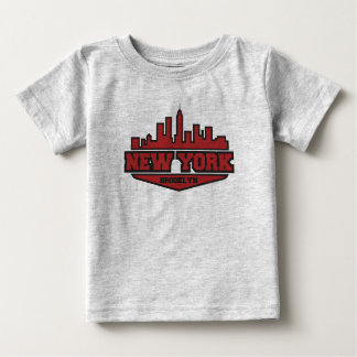 Camiseta Para Bebê Roteiro do estilo do bloco de Brooklyn New York |