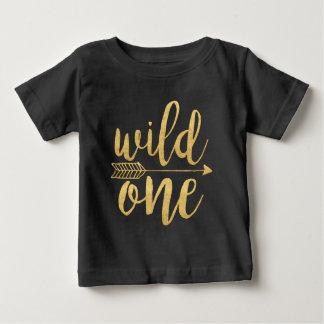 Camiseta Para Bebê Roteiro selvagem do ouro dos anos de idade de