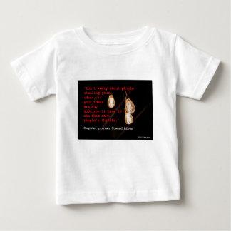 Camiseta Para Bebê Roubando ideias