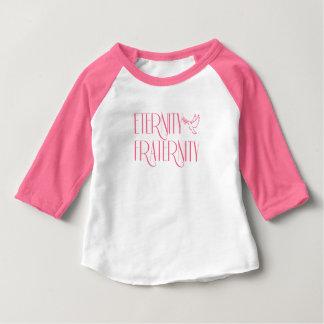 Camiseta Para Bebê Roupa americano do bebê 3/4 de t-shirt do Raglan