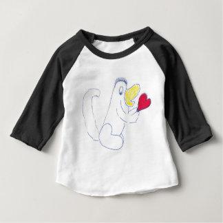 Camiseta Para Bebê Roupa americano do inseto do amor 3/4 de Raglan