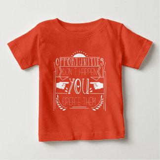 Camiseta Para Bebê Roupa de Movitvational das oportunidades