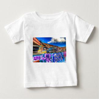 Camiseta Para Bebê Rua de Leake e táxi de Londres