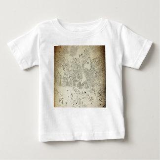 Camiseta Para Bebê Ruas de Hamburgo e vintage esquisito do mapa das