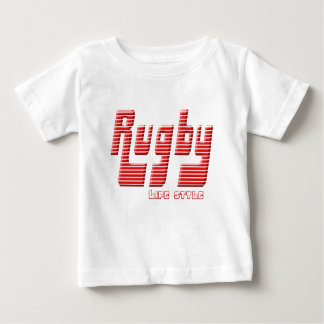 Camiseta Para Bebê Rúgbi vida estilo