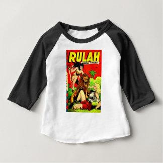 Camiseta Para Bebê Rulah e um leão assustador grande