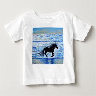 Camiseta Para Bebê Running livre pelo mar 2