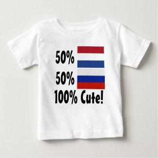 Camiseta Para Bebê Russo 100% do Dutch 50% de 50% bonito