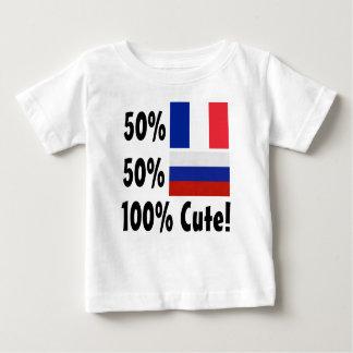Camiseta Para Bebê Russo 100% do francês 50% de 50% bonito