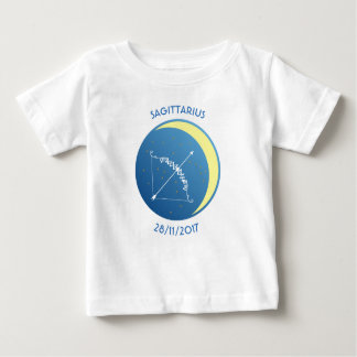 Camiseta Para Bebê Sagitário do t-shirt do bebê do sinal da estrela