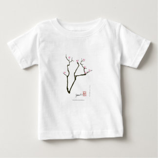Camiseta Para Bebê sakura e 7 pássaros cor-de-rosa 1, fernandes tony