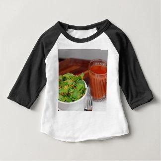 Camiseta Para Bebê Salada de agrião do molho do tomate da cenoura do