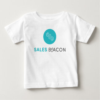Camiseta Para Bebê SalesBeacon - bacon - cinza