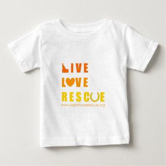 Camiseta Para Bebê Salvamento vivo do cavalo de Idaho do salvamento