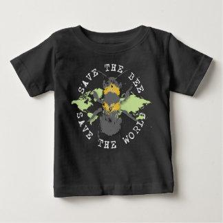 Camiseta Para Bebê Salvar a abelha! Salvar o mundo! Coleção do
