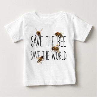 Camiseta Para Bebê Salvar a abelha! Salvar o mundo! Vive o design