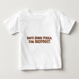 Camiseta Para Bebê Salvar a pizza para BIGFOOT - roupa SOMENTE
