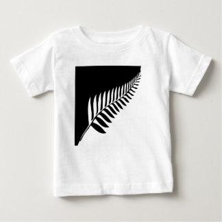 Camiseta Para Bebê Samambaia de prata de Nova Zelândia