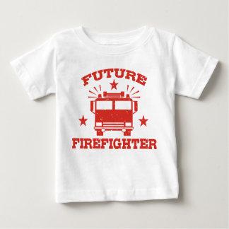 Camiseta Para Bebê Sapador-bombeiro futuro