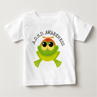 Camiseta Para Bebê Sapo bonito da consciência de ADHD