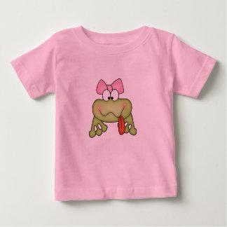 Camiseta Para Bebê Sapo bonito da menina de Toadally