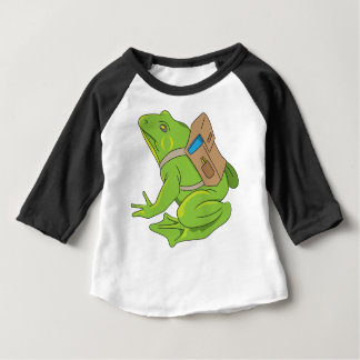 Camiseta Para Bebê Sapo da escola