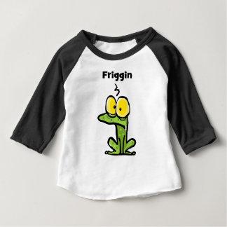 Camiseta Para Bebê Sapo pequeno bonito de Friggin