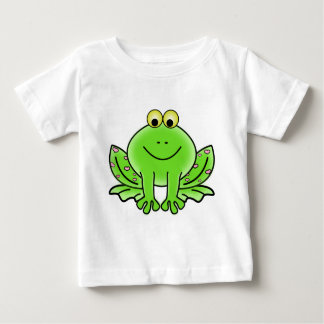 Camiseta Para Bebê Sapo verde de floresta tropical