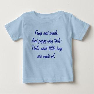 Camiseta Para Bebê Sapos e caracóis, e caudas do filhote de