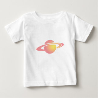 Camiseta Para Bebê Saturn cor-de-rosa