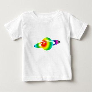Camiseta Para Bebê Saturn psicadélico