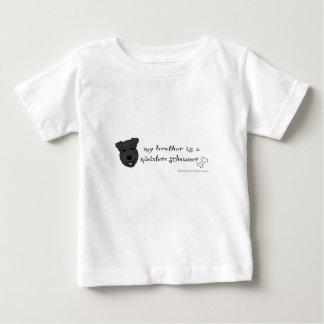 Camiseta Para Bebê schnauzer diminuto