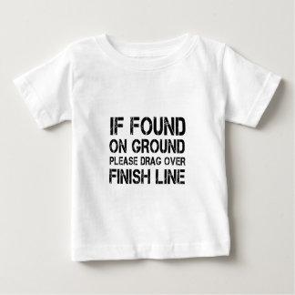 Camiseta Para Bebê Se encontrado na terra arraste por favor sobre o