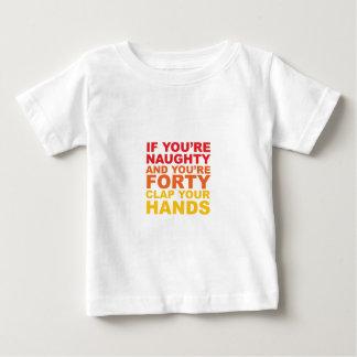 Camiseta Para Bebê SE VOCÊ é QUARENTA E VOCÊ é IMPERTINENTE