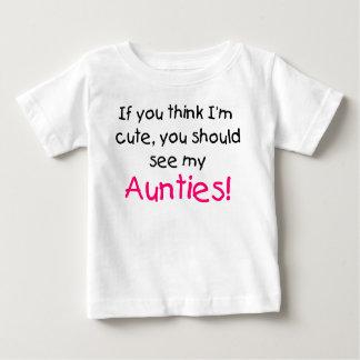 Camiseta Para Bebê Se você pensa que eu sou bonito veja meus meus
