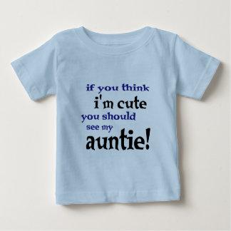 Camiseta Para Bebê Se você pensa que eu sou bonito você deve ver meu