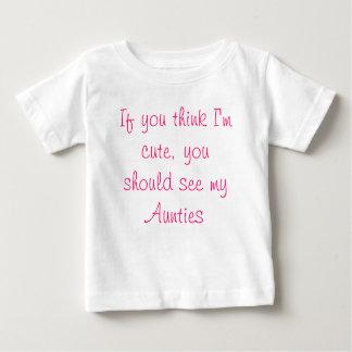 Camiseta Para Bebê Se você pensa que eu sou bonito, você devo ver