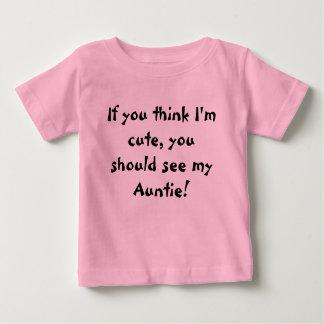 Camiseta Para Bebê Se você pensa que eu sou bonito, você devo ver meu
