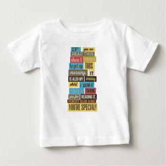 Camiseta Para Bebê se você pode ler este então eu manged ao texto e
