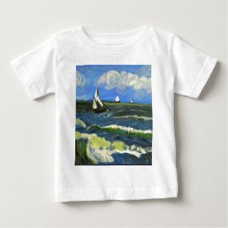 Camiseta Para Bebê Seascape em Saintes-Maries, Van Gogh