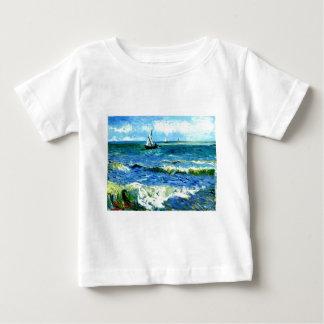 Camiseta Para Bebê Seascape em Saintes-Maries, Vincent van Gogh