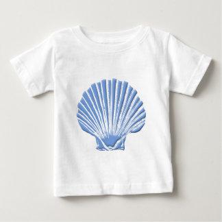 Camiseta Para Bebê Seashell azul