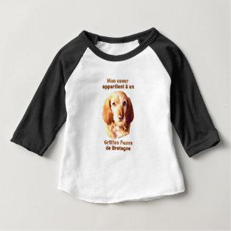 Camiseta Para Bebê Segunda-feira Coeur Appartient um deBretagne do Un