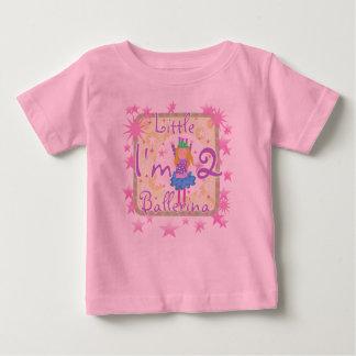 Camiseta Para Bebê Segundo aniversário da bailarina