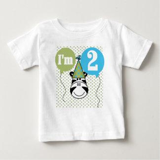 Camiseta Para Bebê Segundo aniversário da zebra