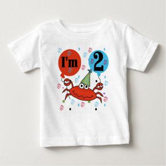 Camiseta Para Bebê Segundo aniversário do caranguejo