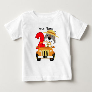 Camiseta Para Bebê Segundo aniversário do safari