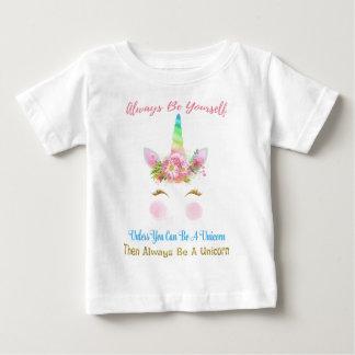 Camiseta Para Bebê Seja sempre um unicórnio
